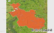 Political Map of Overijssel, satellite outside