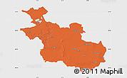 Political Map of Overijssel, single color outside