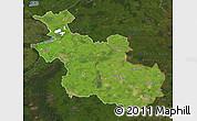 Satellite Map of Overijssel, darken