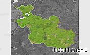 Satellite Map of Overijssel, desaturated