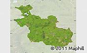Satellite Map of Overijssel, lighten