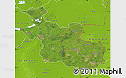 Satellite Map of Overijssel, physical outside
