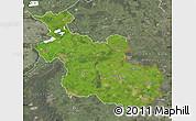 Satellite Map of Overijssel, semi-desaturated