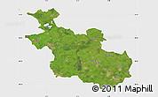 Satellite Map of Overijssel, single color outside