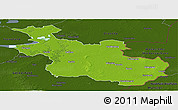 Physical Panoramic Map of Overijssel, darken