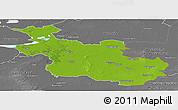 Physical Panoramic Map of Overijssel, desaturated