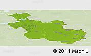 Physical Panoramic Map of Overijssel, lighten