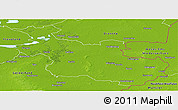 Physical Panoramic Map of Overijssel