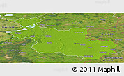 Physical Panoramic Map of Overijssel, satellite outside