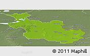 Physical Panoramic Map of Overijssel, semi-desaturated