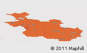 Political Panoramic Map of Overijssel, single color outside