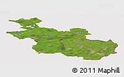 Satellite Panoramic Map of Overijssel, cropped outside