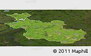 Satellite Panoramic Map of Overijssel, darken