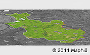 Satellite Panoramic Map of Overijssel, desaturated