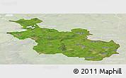 Satellite Panoramic Map of Overijssel, lighten