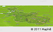 Satellite Panoramic Map of Overijssel, physical outside