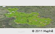 Satellite Panoramic Map of Overijssel, semi-desaturated