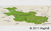 Satellite Panoramic Map of Overijssel, shaded relief outside