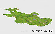Satellite Panoramic Map of Overijssel, single color outside