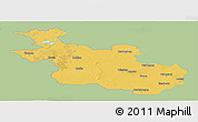 Savanna Style Panoramic Map of Overijssel, single color outside