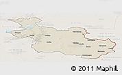 Shaded Relief Panoramic Map of Overijssel, lighten