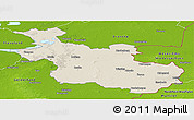 Shaded Relief Panoramic Map of Overijssel, physical outside