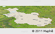 Shaded Relief Panoramic Map of Overijssel, satellite outside