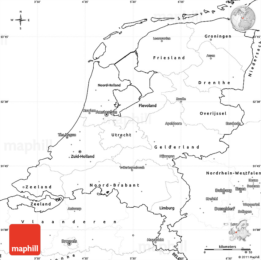 Blank simple map of netherlands gumiabroncs Gallery