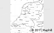 Blank Simple Map of Netherlands