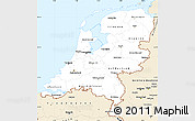Classic Style Simple Map of Netherlands