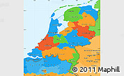 Political Simple Map of Netherlands