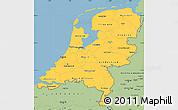 Savanna Style Simple Map of Netherlands