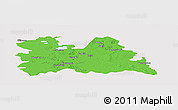 Political Panoramic Map of Utrecht, cropped outside