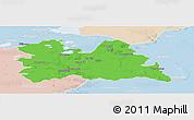 Political Panoramic Map of Utrecht, lighten