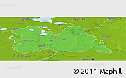 Political Panoramic Map of Utrecht, physical outside