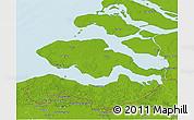 Physical 3D Map of Zeeland
