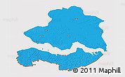 Political 3D Map of Zeeland, cropped outside