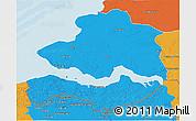 Political 3D Map of Zeeland