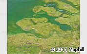 Satellite 3D Map of Zeeland