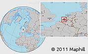 Gray Location Map of Zeeland