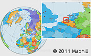 Political Location Map of Zeeland