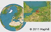 Satellite Location Map of Zeeland
