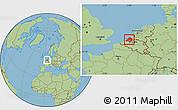 Savanna Style Location Map of Zeeland