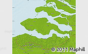 Physical Map of Zeeland