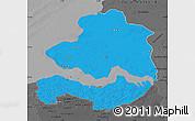 Political Map of Zeeland, darken, desaturated
