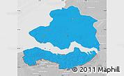 Political Map of Zeeland, lighten, desaturated