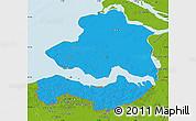 Political Map of Zeeland, physical outside