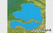 Political Map of Zeeland, satellite outside