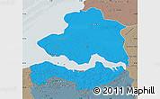 Political Map of Zeeland, semi-desaturated