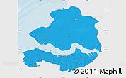 Political Map of Zeeland, single color outside